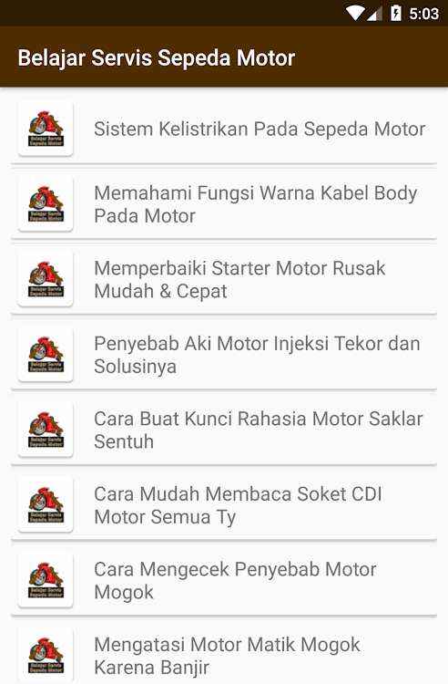 Fungsi Servis : fungsi, servis, Belajar, Servis, Sepeda, Motor, (Android, AppAgg
