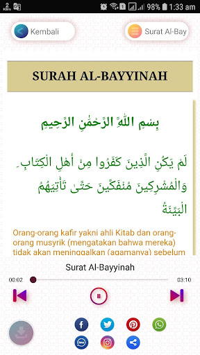 Surat Al Bayyinah : surat, bayyinah, ✓[2021], Surat, Bayyinah, Terjemahan, Android, Download, [Latest]