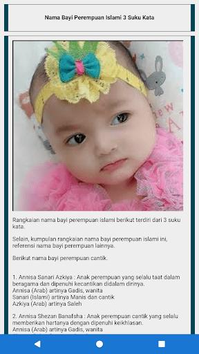 Nama Bayi Islam 3 Suku Kata : islam, Kumpulan, Perempuan, Laki-laki, Islami, Download, Android, APKtume.com