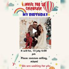 birthday video invitation maker