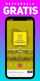 Radio Rivadavia - AM 630 - Buenos Aires, Argentina Capturas de pantalla