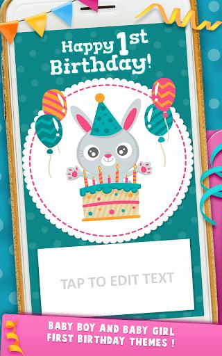 first birthday invitation cards apk