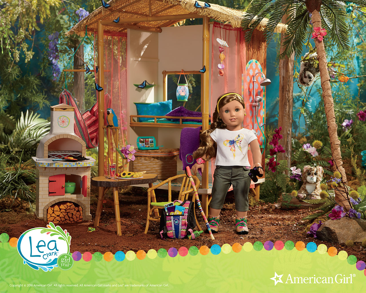American Girl Doll Wallpaper Lea Clark 2016 Girl Of The Year Play At American Girl