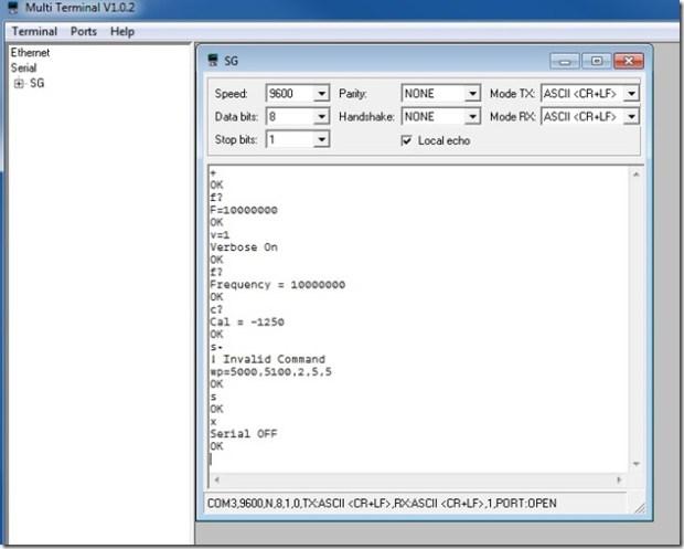 signal generator remote control