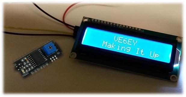 NodeMCU I2C LCD Display Saves Pins - Making It Up