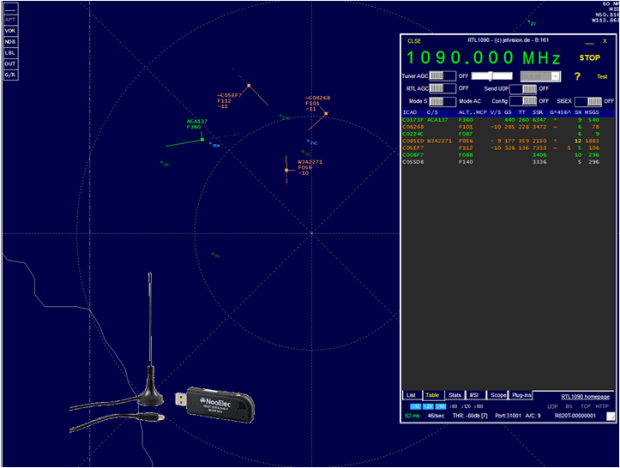 rtl-sdr tracks aircraft