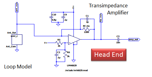 wideband loop antenna head end