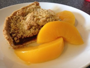 Cherry and Plum crumble with peaches