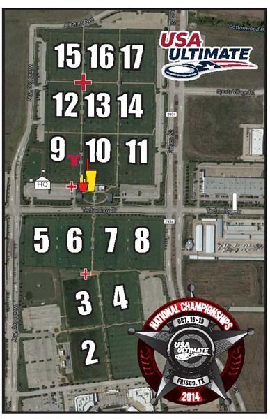 Fc Dallas Field Map : dallas, field, Event, Field, Ultimate