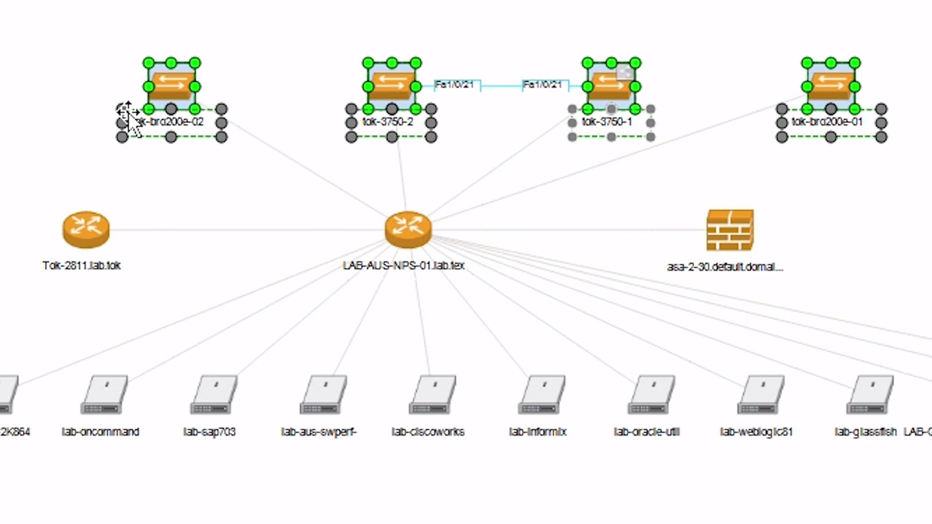 visio application diagram gm trailer harness wiring automate create and export network maps to with topology mapper