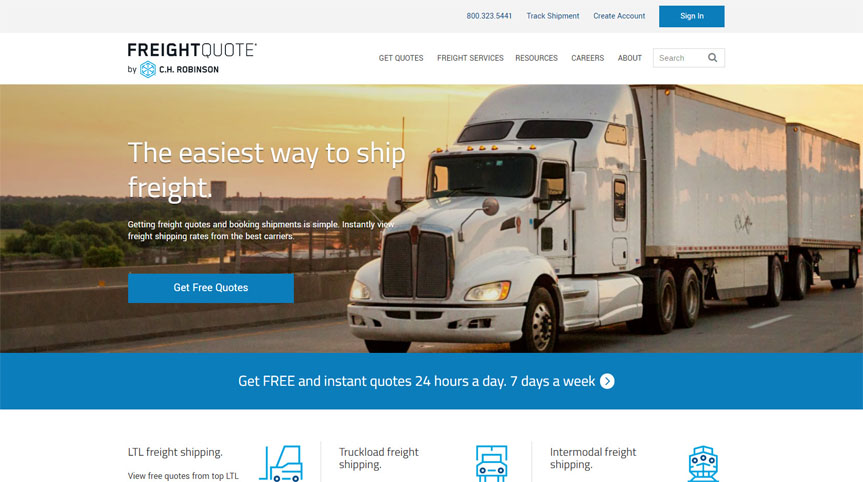 free vehicle shipping quotes dolphin fuel gauge wiring diagram freight ltl truckload intermodal etms instant freightquote demo