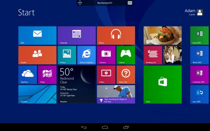 main image windows homescreen