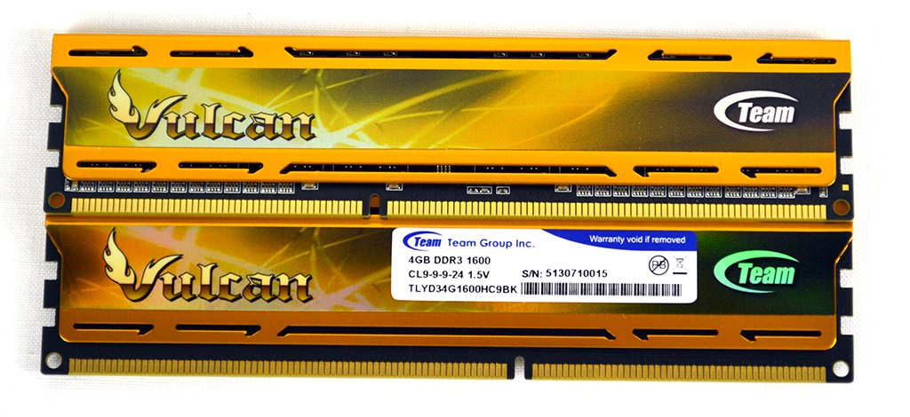 TeamGroup Vulcan GOLD 8GB (2x4GB) 1600MHz Memory Review   Play3r