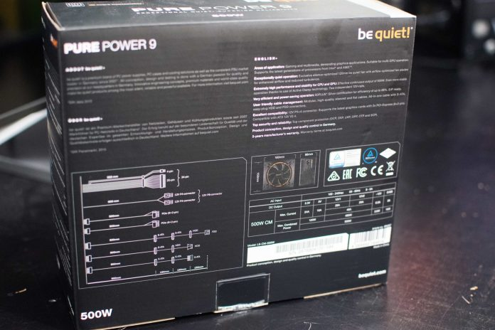 be quiet! Pure Power 9 500w PSU