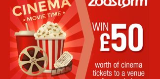 Win £50's Worth of Cinema Tickets With Zoostorm