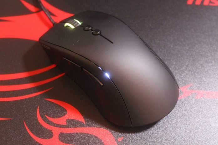 mouse powered on