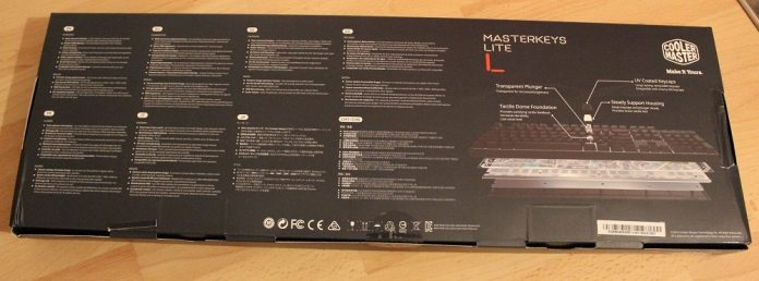 CM Masterkeys lite L box back