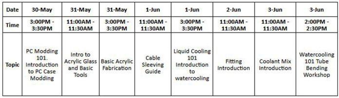 CyberMods 24hrs Event Schedule