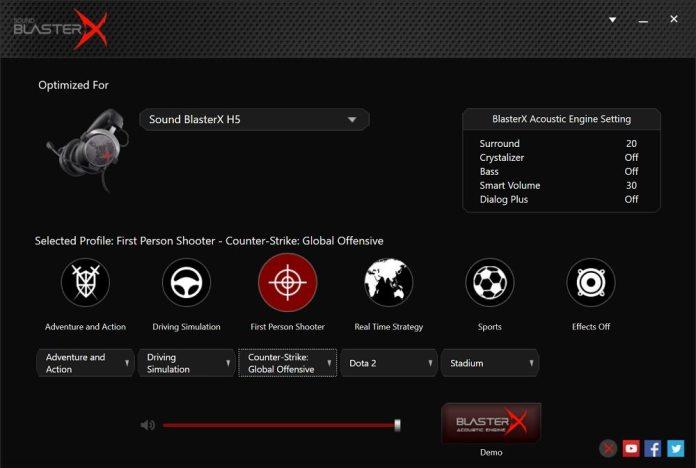 sound blaster H5 software