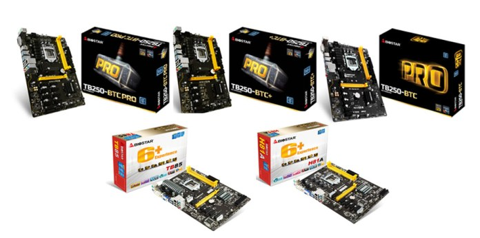 BIOSTAR Crypto Mining Motherboards with ethOS Mining OS Support