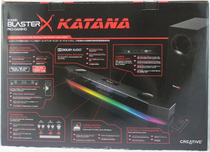 Creative SoundBlasterX Katana Box Rear