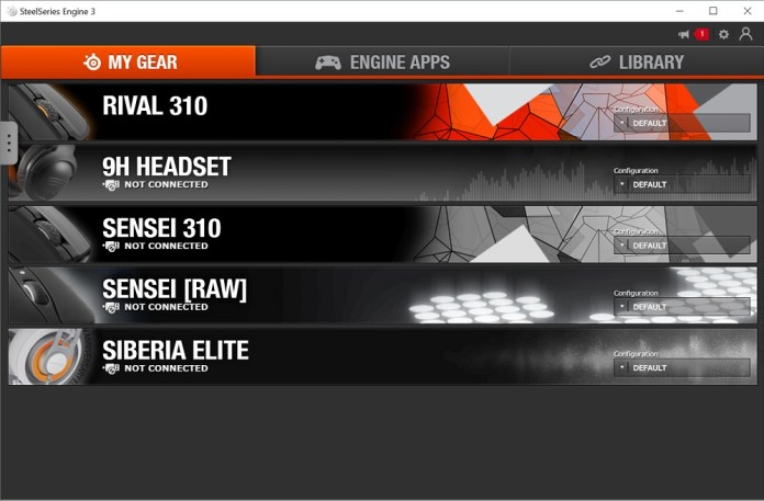 steelseries engine 3 main screen