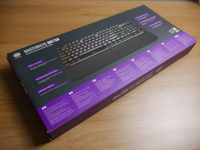 Masterkeys MK750 Box Back