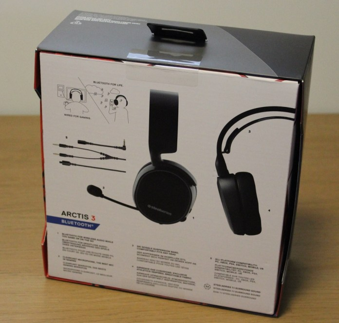 Steelseries Arctis 3 BT Box back