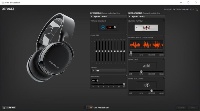 steelseries arctis 3 software
