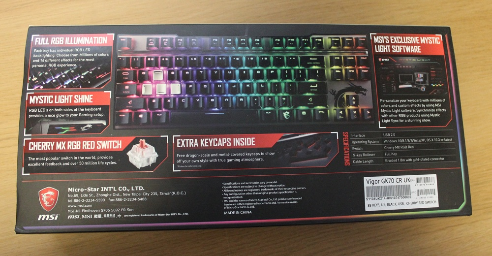 MSI Vigor GK70 TKL RGB Keyboard Review | Play3r