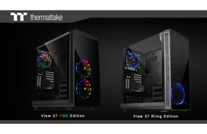 Thermaltake Unveils View 37 RGB Edition and View 37 Riing Edition Mid-Tower Chassis Feature