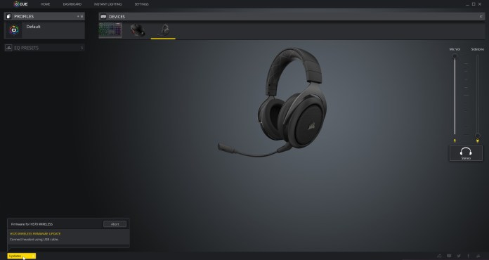 Corsair HS70 Software iCue