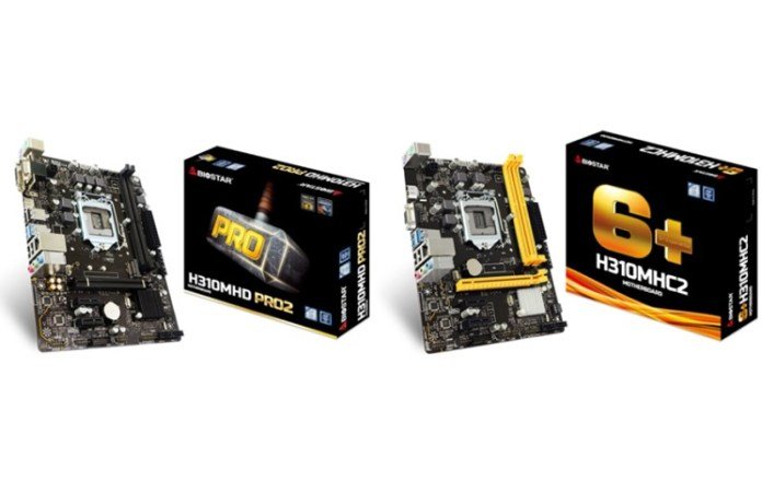 BIOSTAR Introduces H310MHC2 and H310MHD PRO2 for Gaming and VR