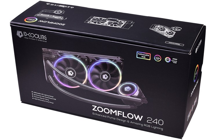 ID-COOLING Releases ZOOMFLOW 240 ARGB AIO Water Cooler | Play3r