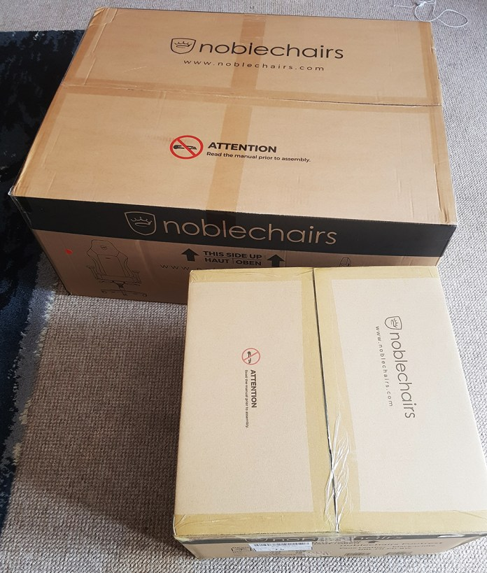 noblechair HERO packaging