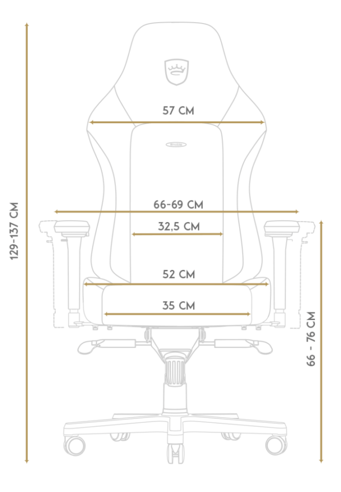 noblechair Hero Size Measurements