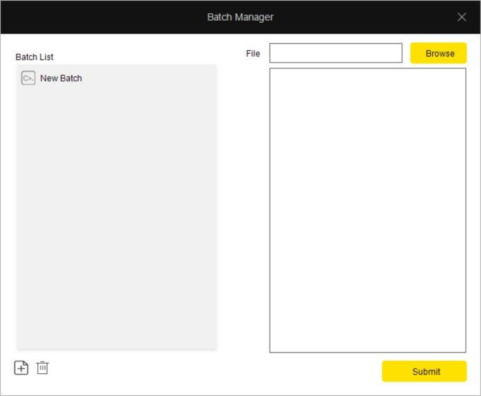 drevo power console keyboard batch manager