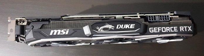 MSI RTX 2080 Duke OC Graphics Card Top