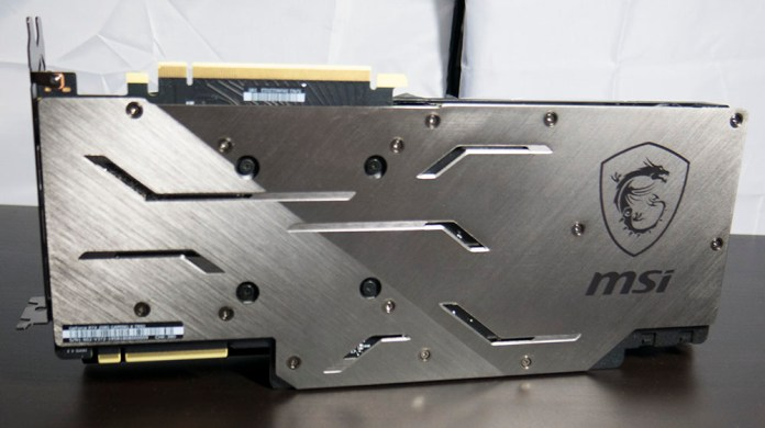 MSI RTX 2080 Gaming X Trio Graphics Card Backplate