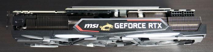 MSI RTX 2080 Gaming X Trio Graphics Card Cooler Edge