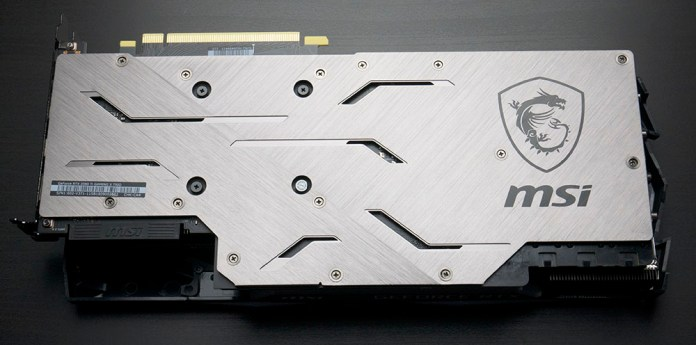 MSI RTX 2080 Ti Gaming X Trio Graphics Card Back plate