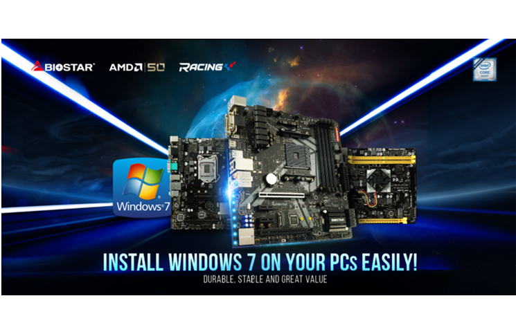 BIOSTAR Announces Windows 7 support for AMD and Intel