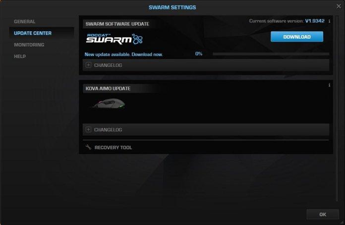roccat swarm firmware updater