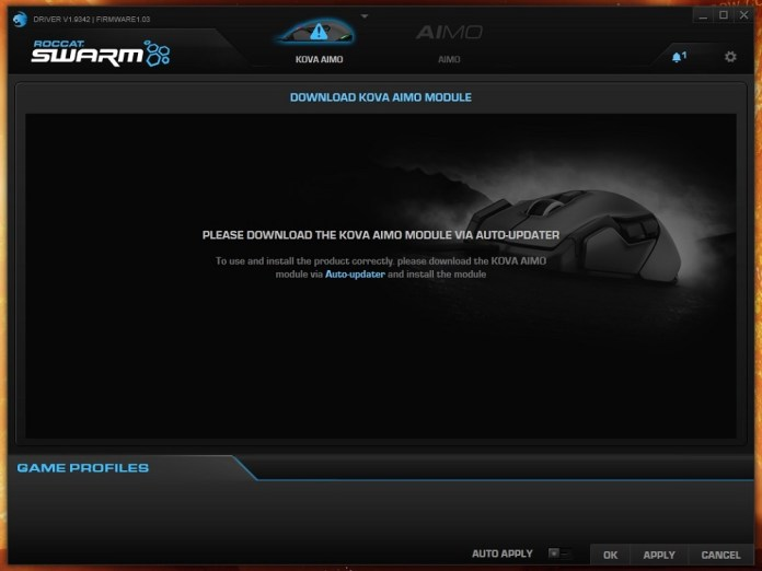roccat swarm first screen