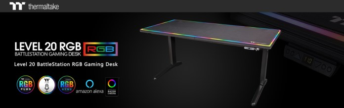 Thermaltake Level 20 RGB BattleStation Gaming Desk_banner
