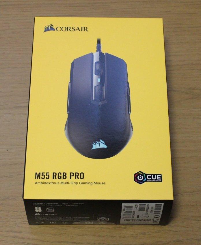 Corsair M55 RGB Pro box top