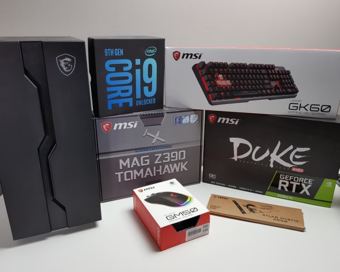 MSI EPIC Powerful RGB Build parts