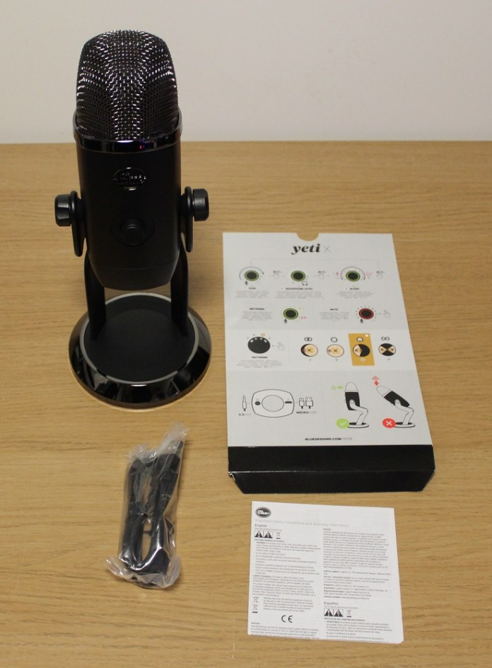 Blue Yeti X Box contents