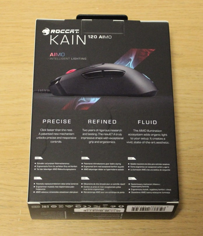 roccat kain 120 aimo box back
