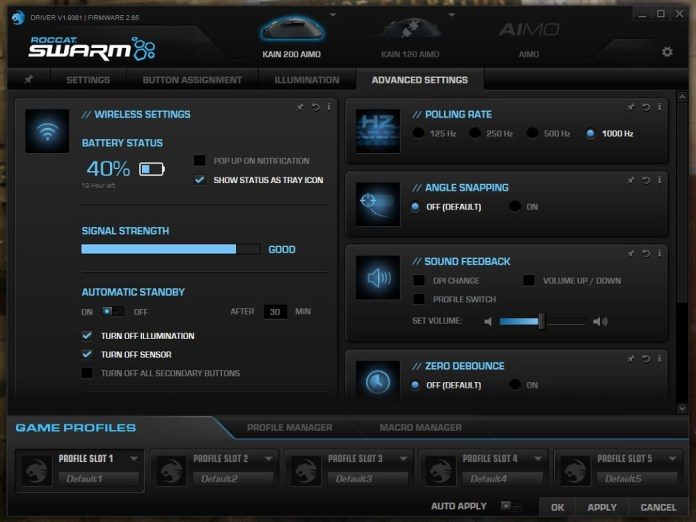 Roccat Swarm Aimo 200 advanced a